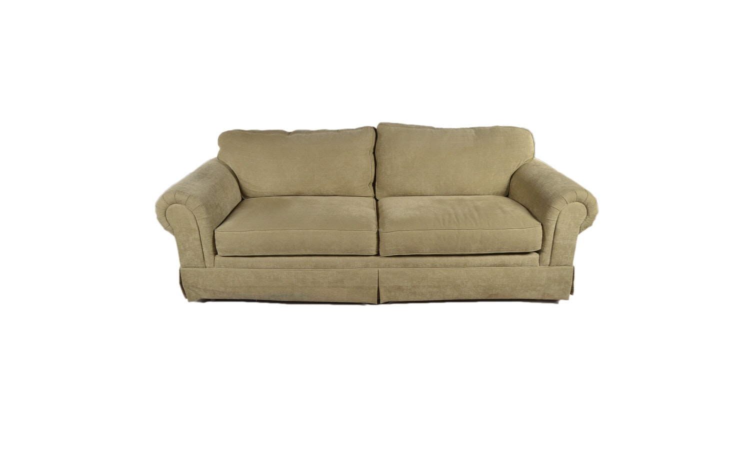 Contemporary Sage Colored Sofa by Norwalk