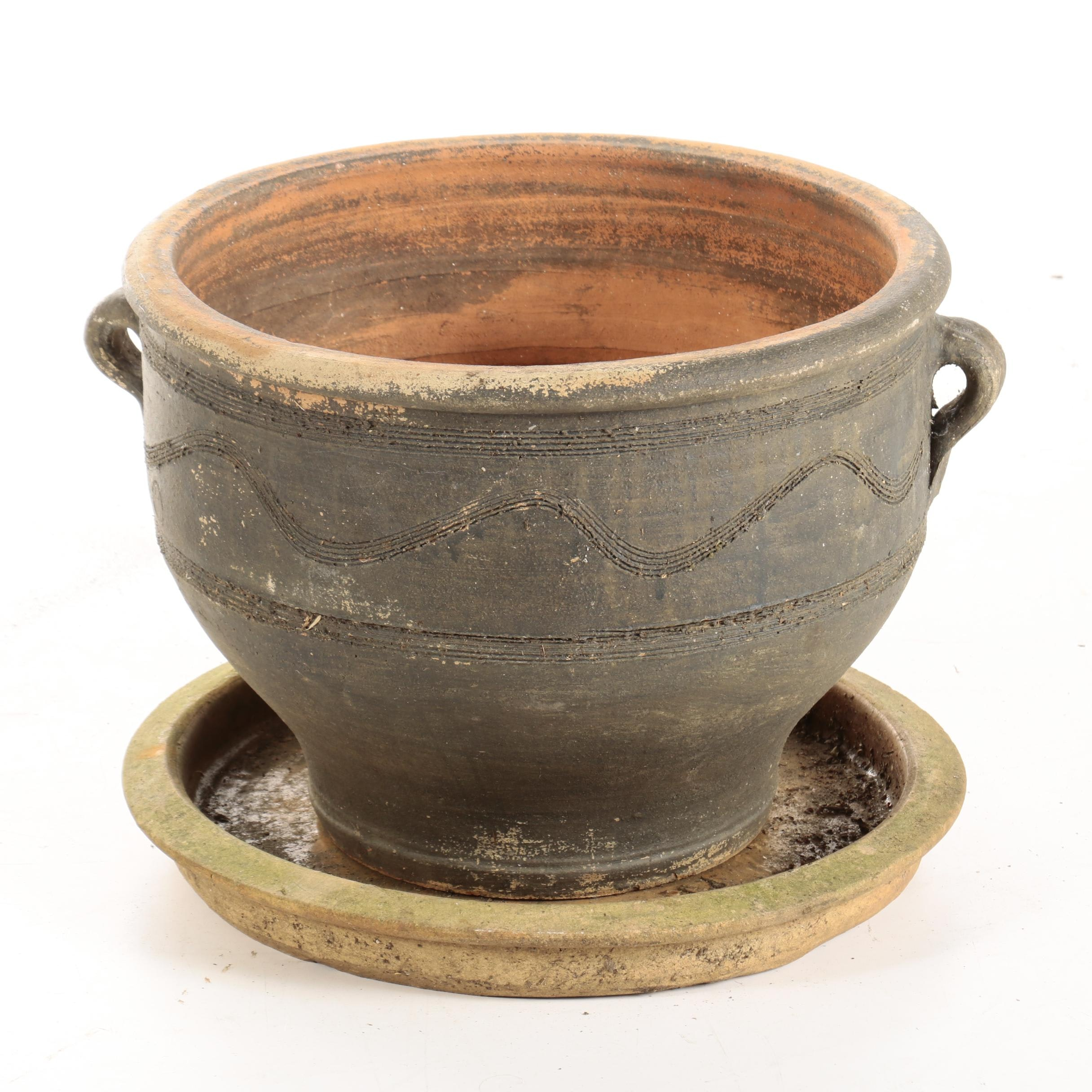 Wheel Thrown Red Clay Planter