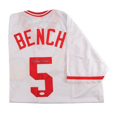 037971b0f4f Johnny Bench Autographed Cincinnati Reds Replica Jersey - JSA COA
