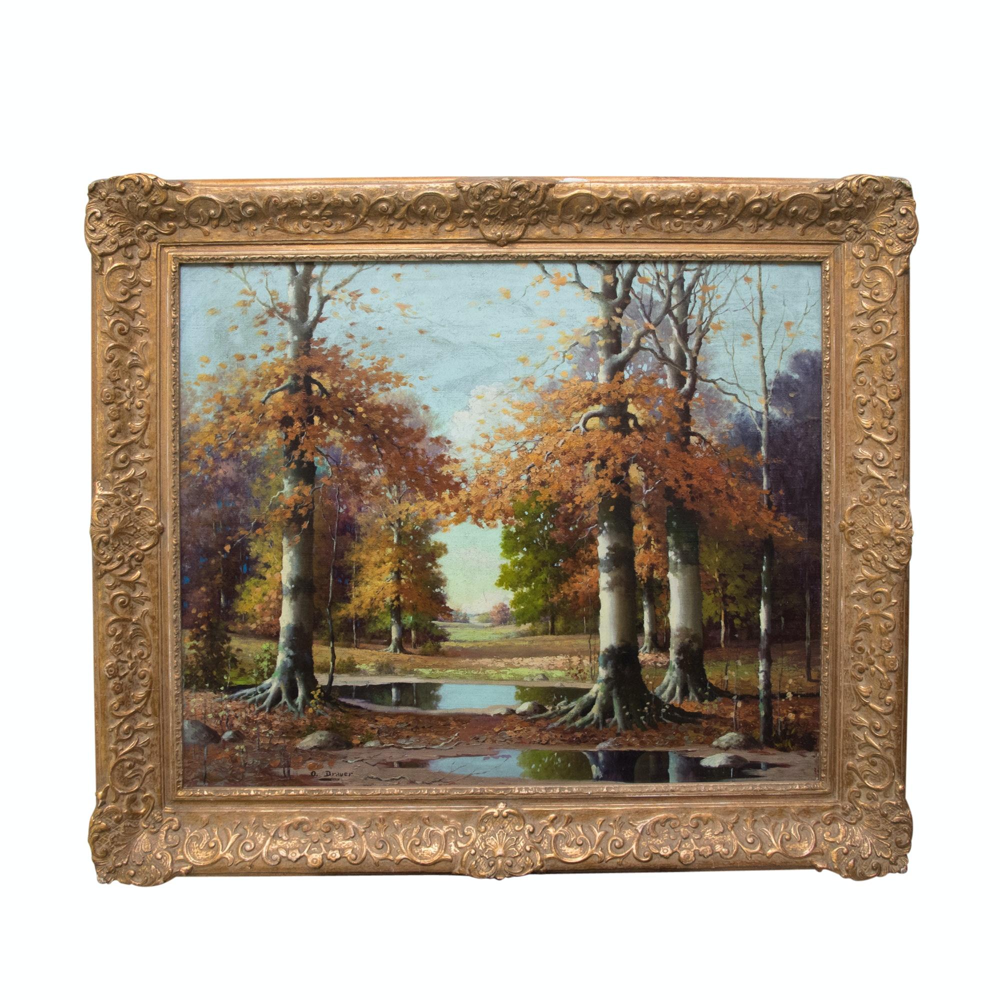 Orrin Draver Oil Painting