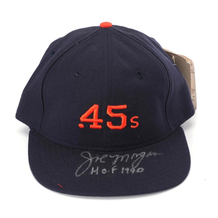 Joe Morgan Autographed Houston Colt .45s Baseball Hat   EBTH cb323b2f91b
