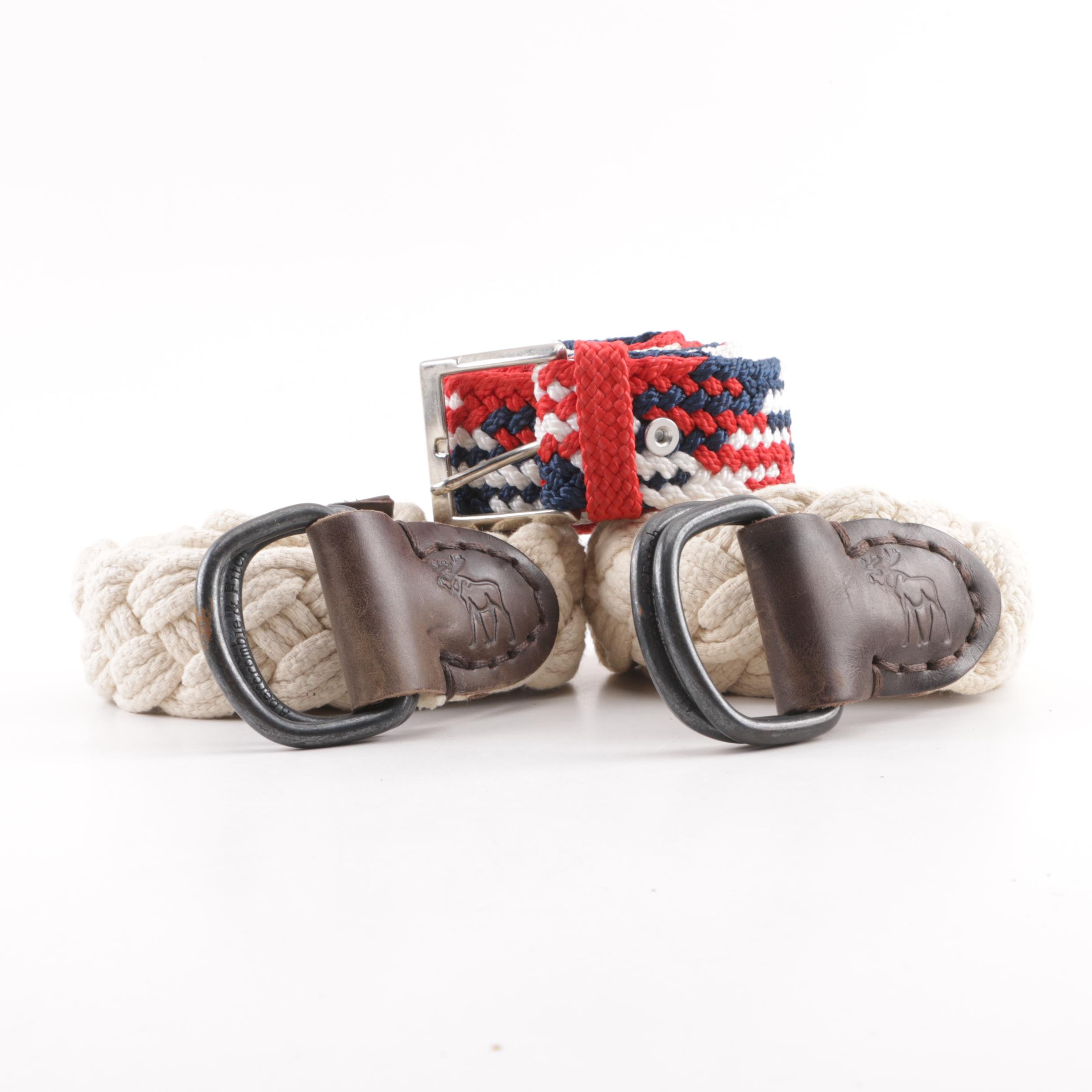Abercrombie & Fitch Woven Belts