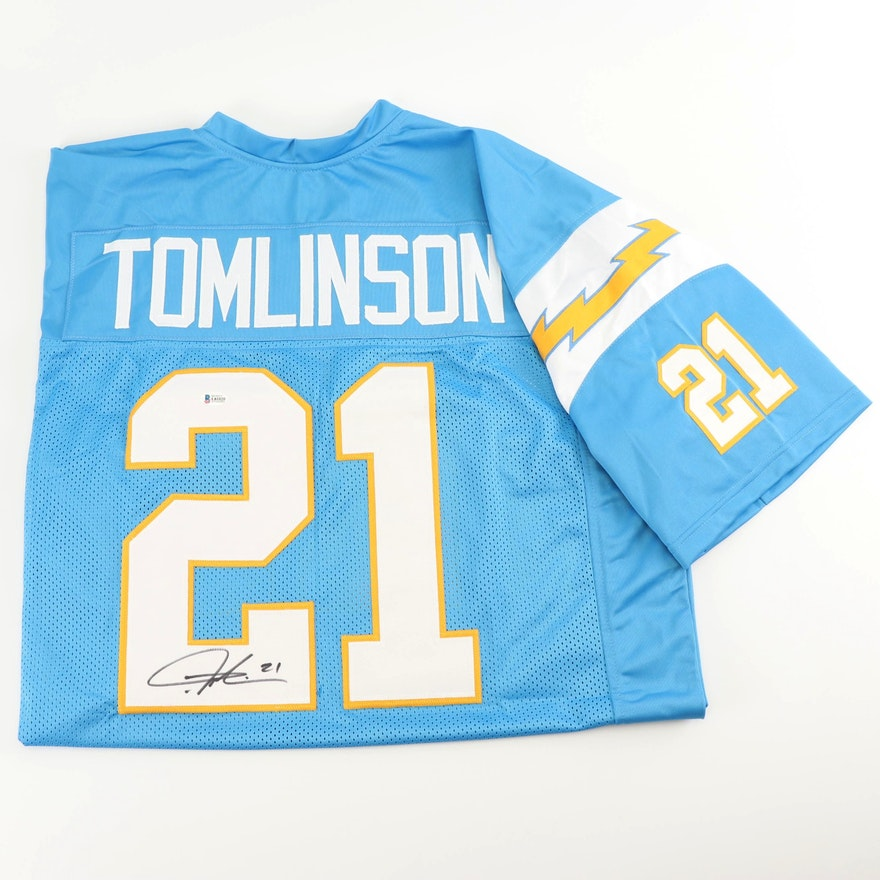 premium selection 5dde5 789fc LaDainian Tomlinson Autographed Replica San Diego Chargers Jersey