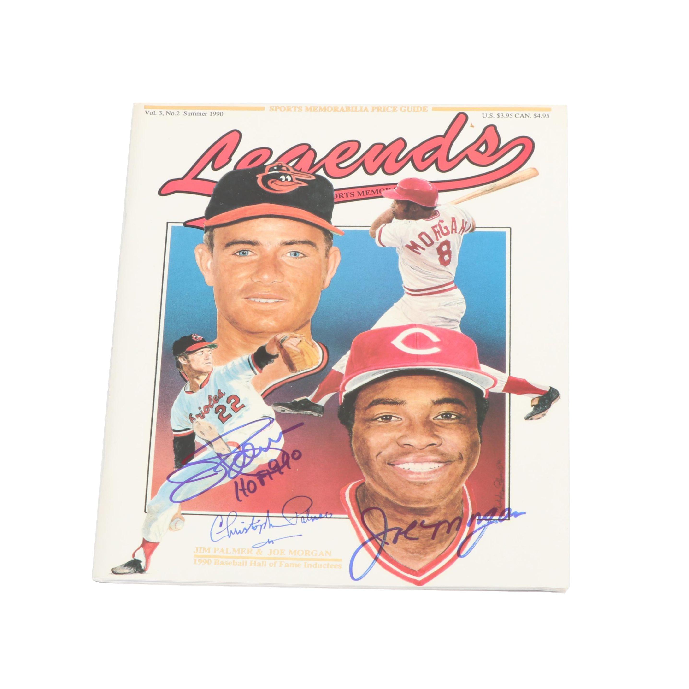 """1990s Jim Palmer and Joe Morgan Autographed """"Legends Sports Memorabilia"""""""