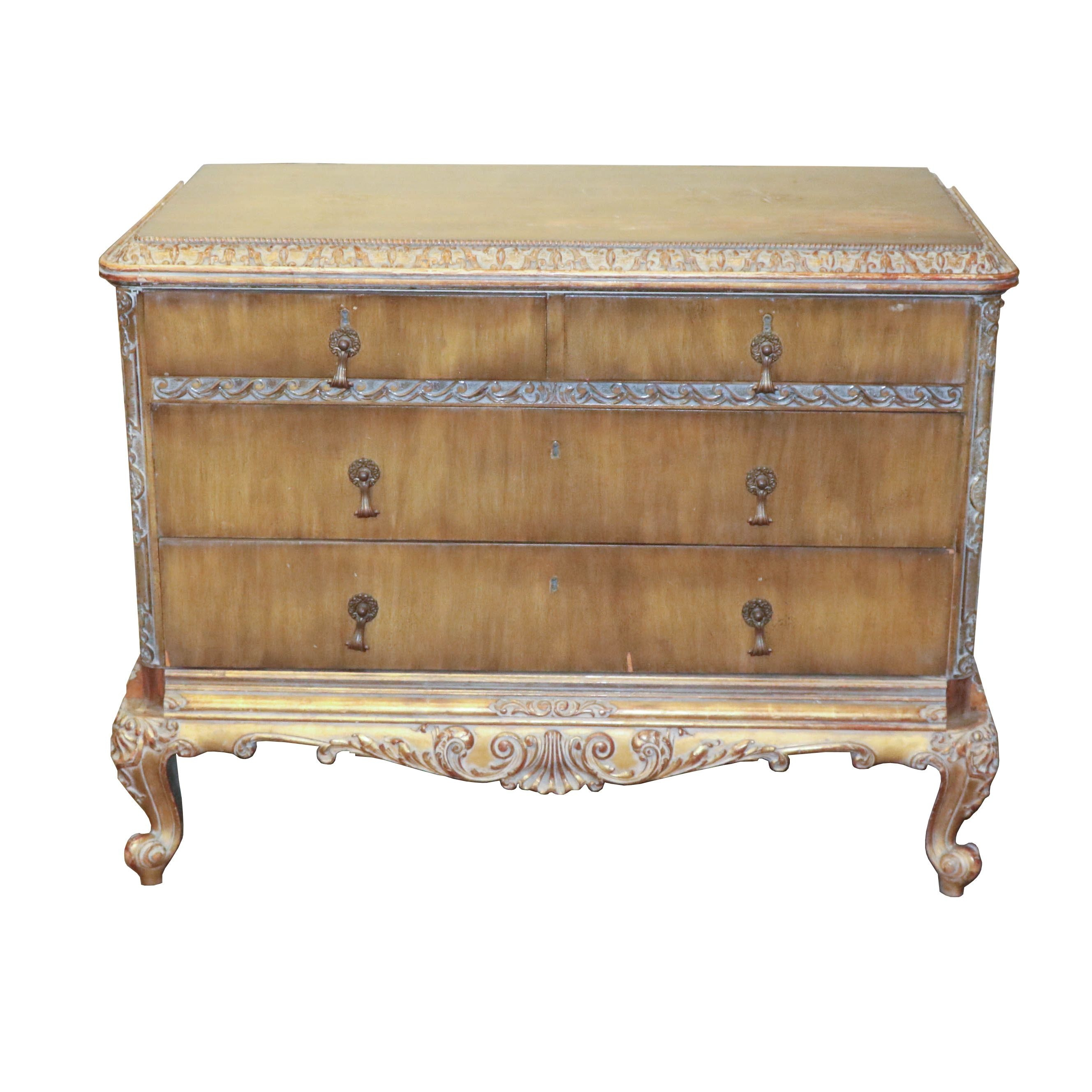 French Provincial Style Chest of Drawers, Mid 20th Century