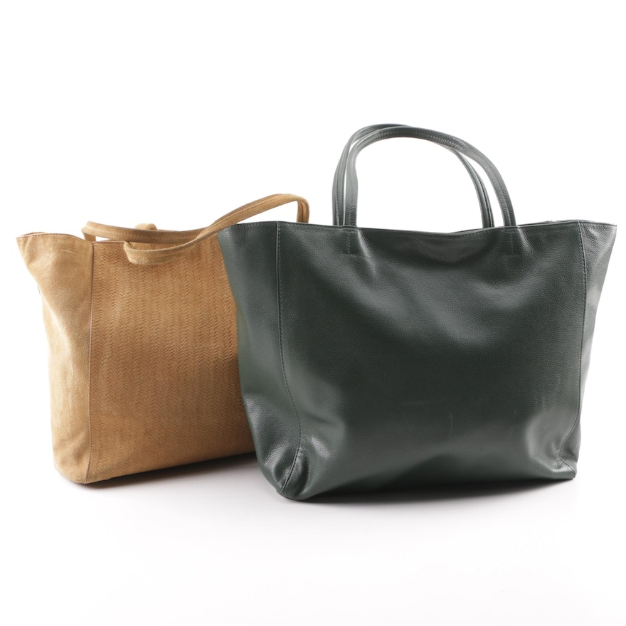 Barneys New York Leather and Suede Tote Bags