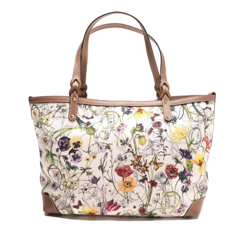 Gucci Craft Flora Canvas Tote