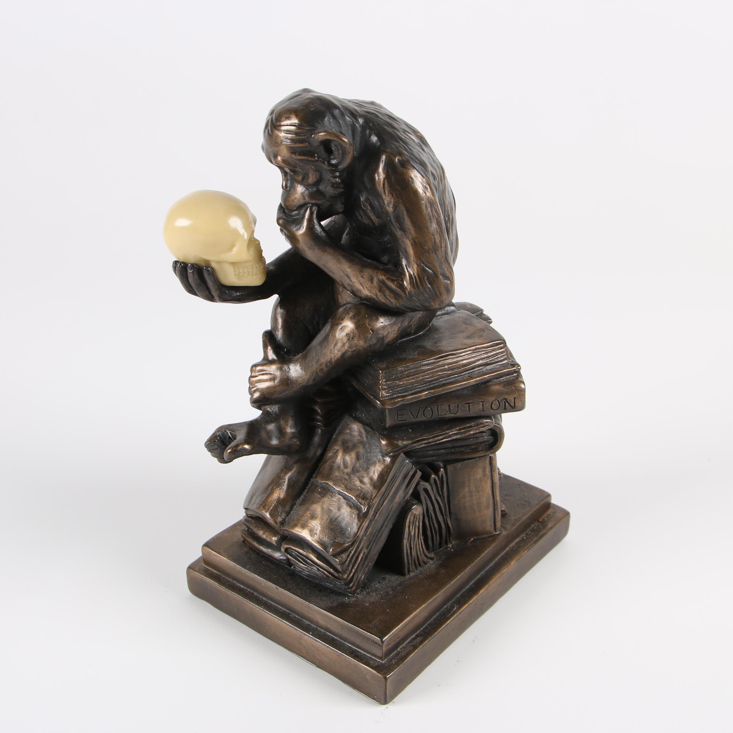 "Composite Sculpture After Wolfgang Hugo Reinhold ""Philosophizing Monkey"""
