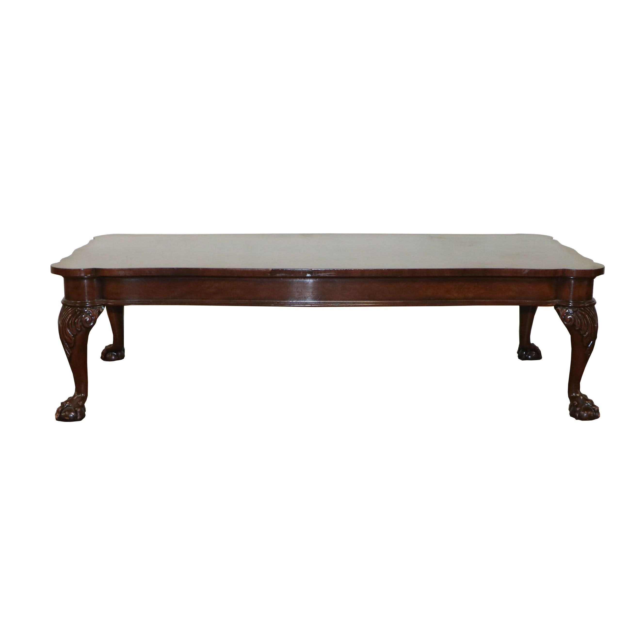 Chippendale Style Mahogany Coffee Table by Baker Furniture