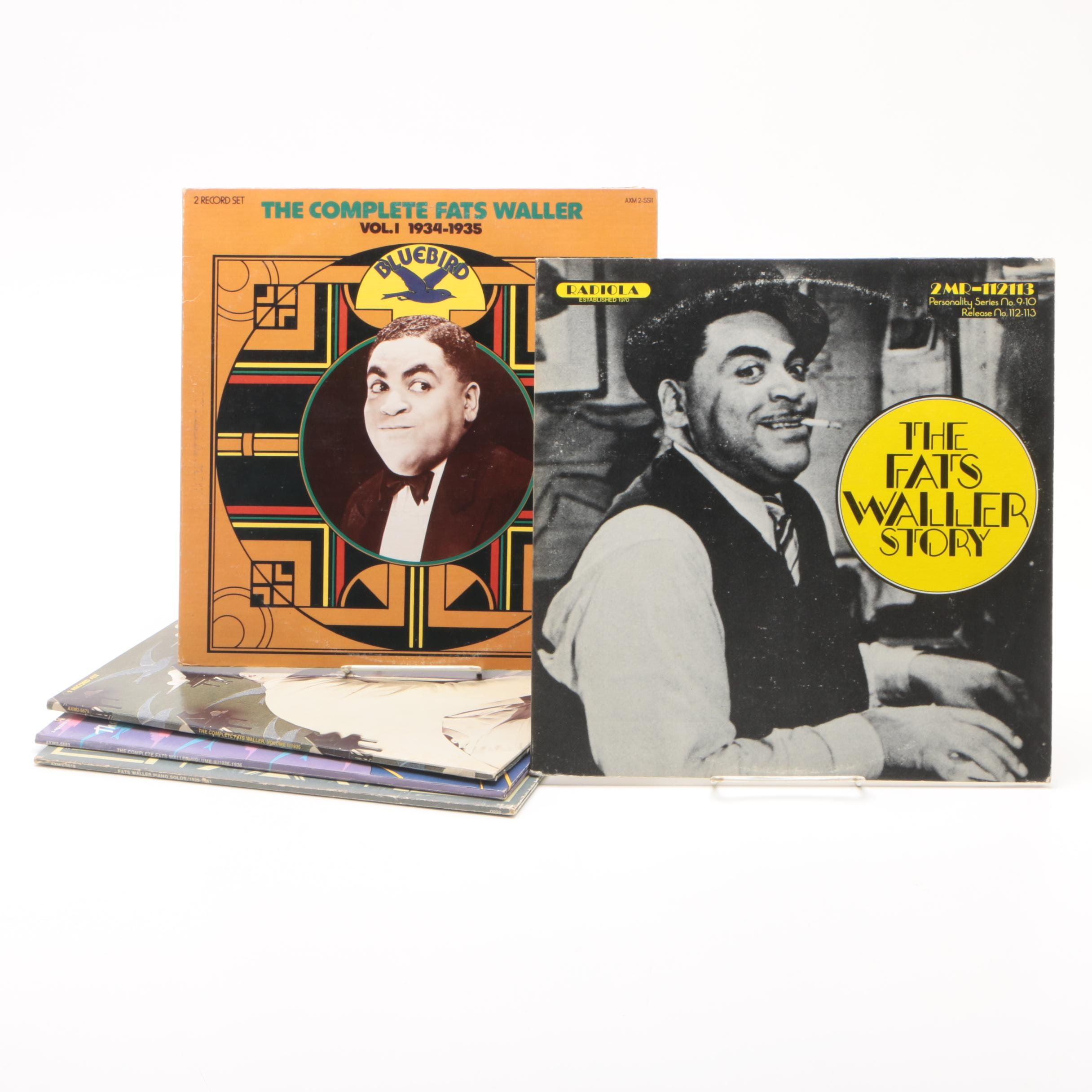 "Fats Waller Vinyl Records including ""The Complete Fats Waller Vol. 1 1934-1935"""