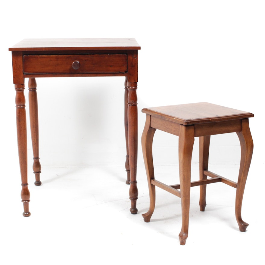Antique and Vintage Maple Accent Tables