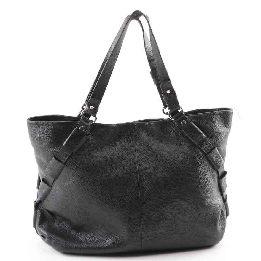 f6c4d7c111 Furla Black Pebbled Leather Tote Bag : EBTH