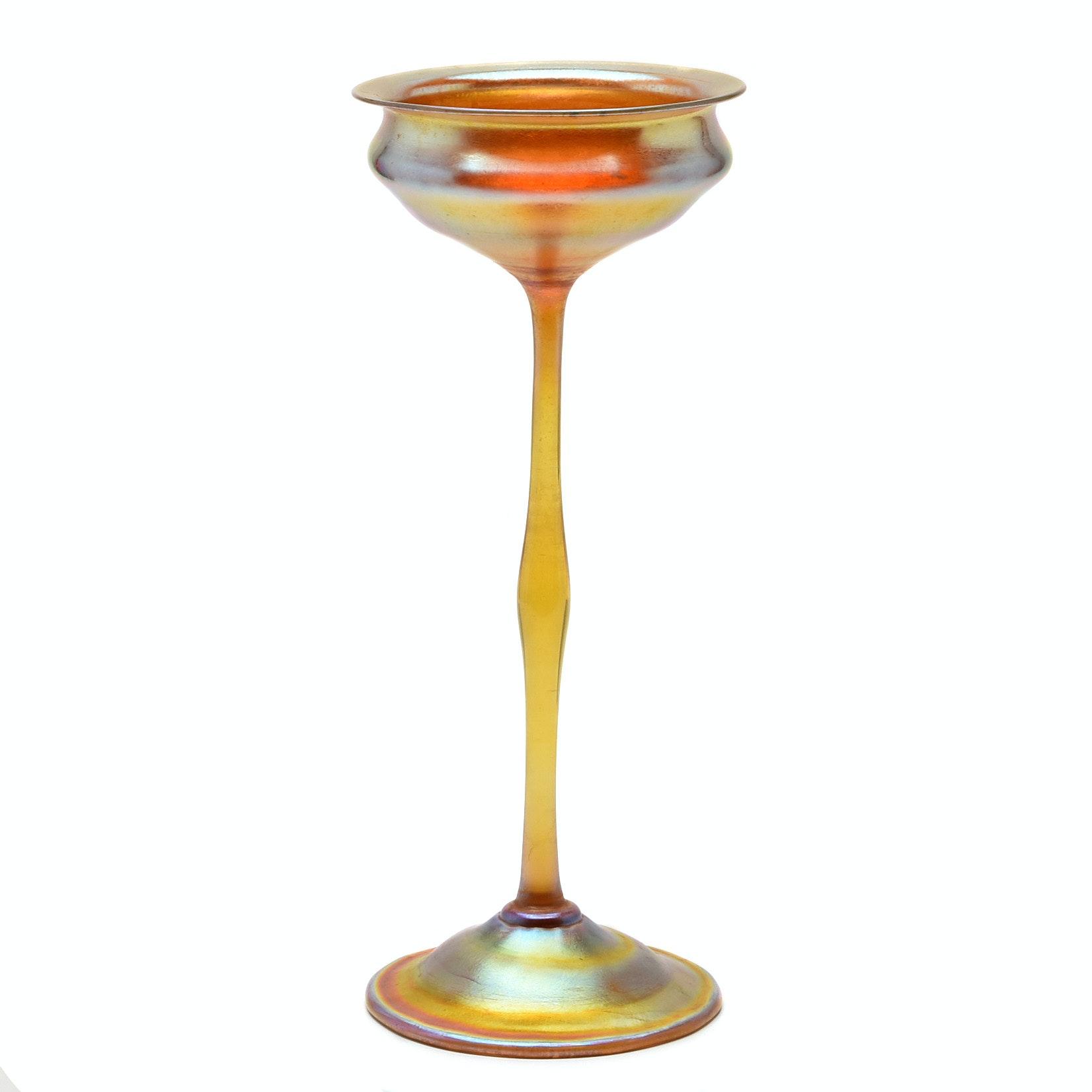 Tiffany Studios Favrile Glass Compote