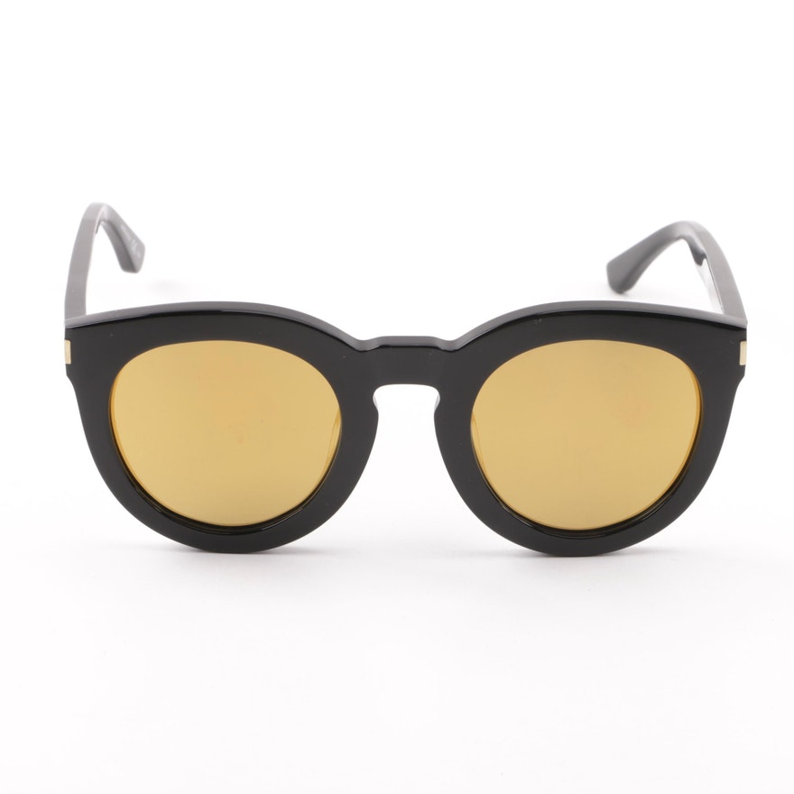 49fb817e288 Saint Laurent SL102 Surf Black Sunglasses with Case   EBTH