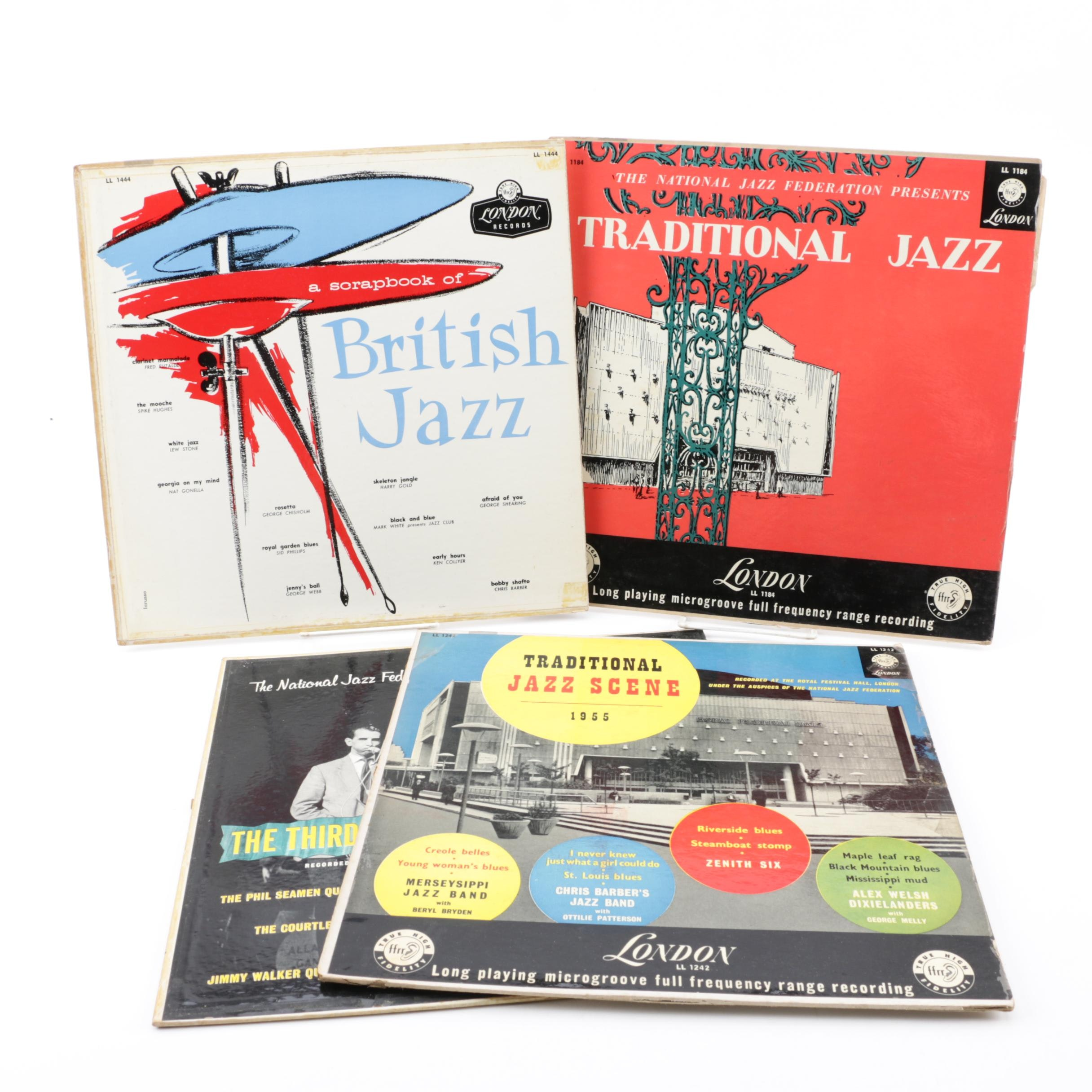 "British Jazz Vinyl Records including ""A Scrapbook of British Jazz"""