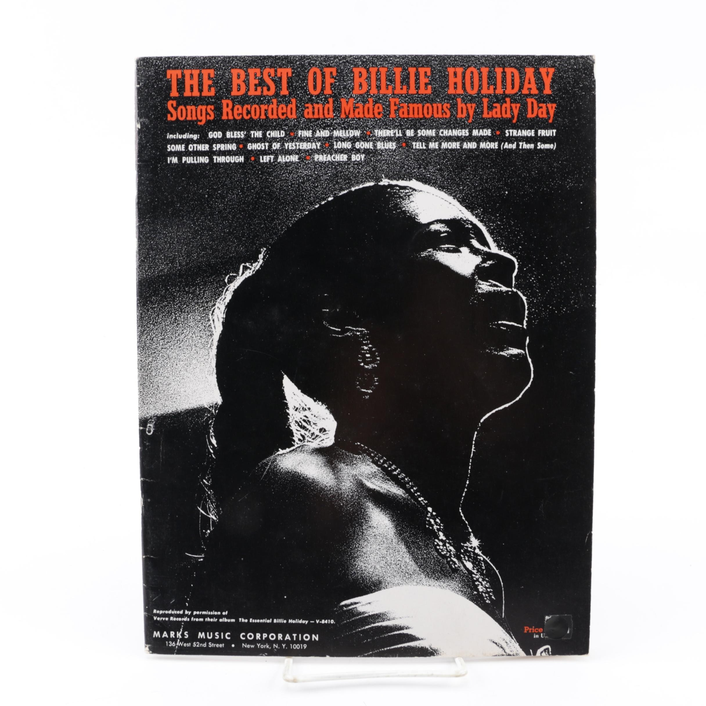 "1962 ""The Best of Billie Holiday"" Sheet Music Book"