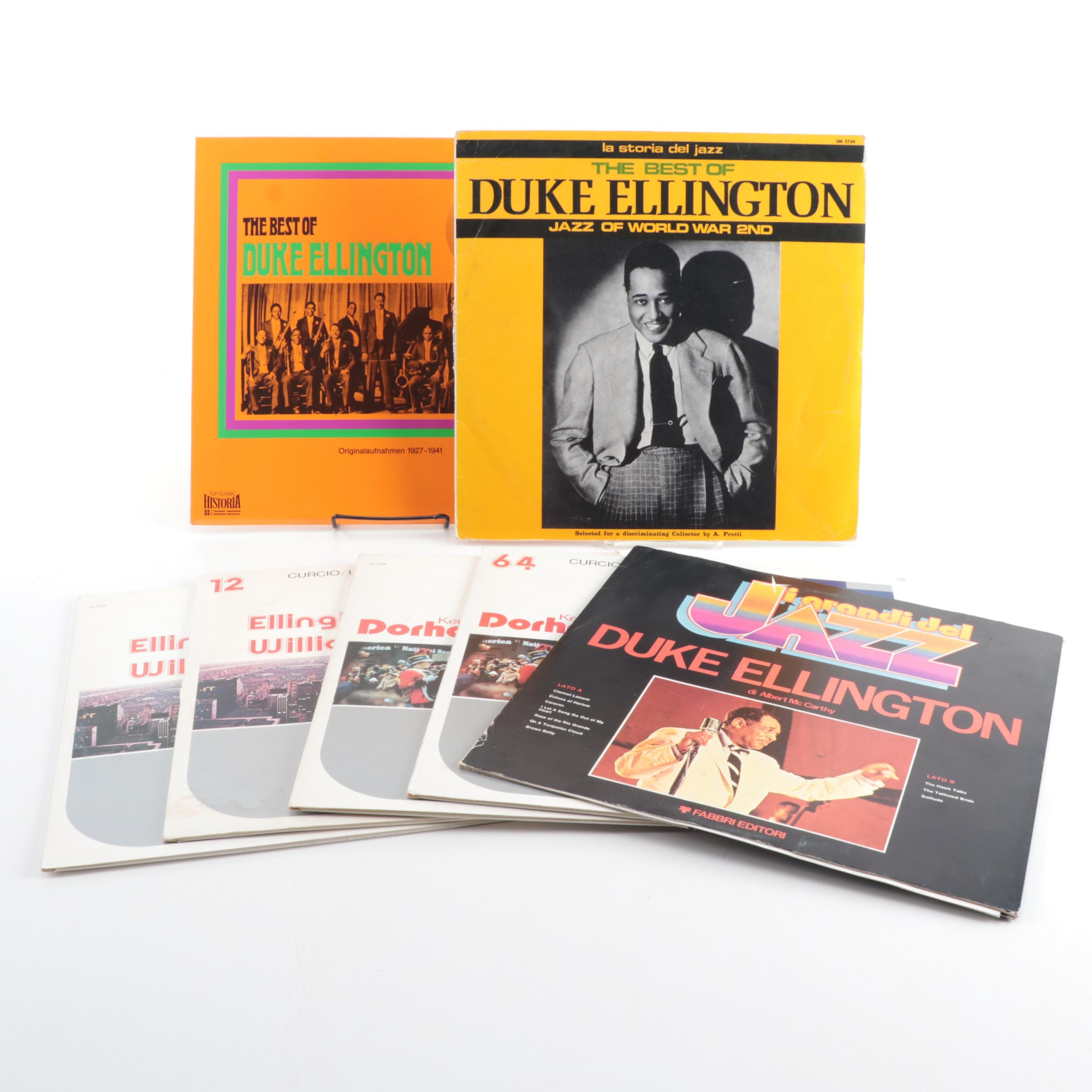 Duke Ellington Records including Imports and Europa Jazz Compilations