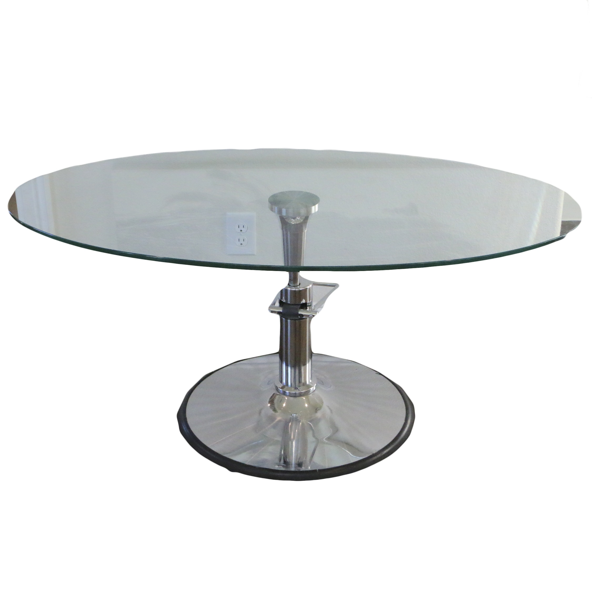 Hydra Design Glass Top Adjustable Coffee Table