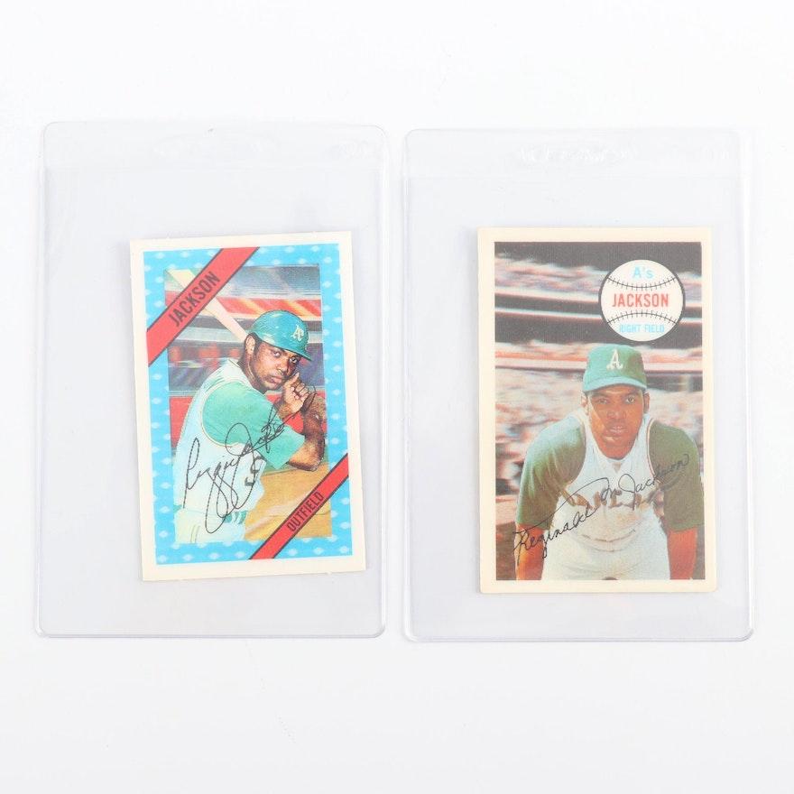 1968 And 1972 Kelloggs Xograph Reggie Jackson Holographic Baseball Cards