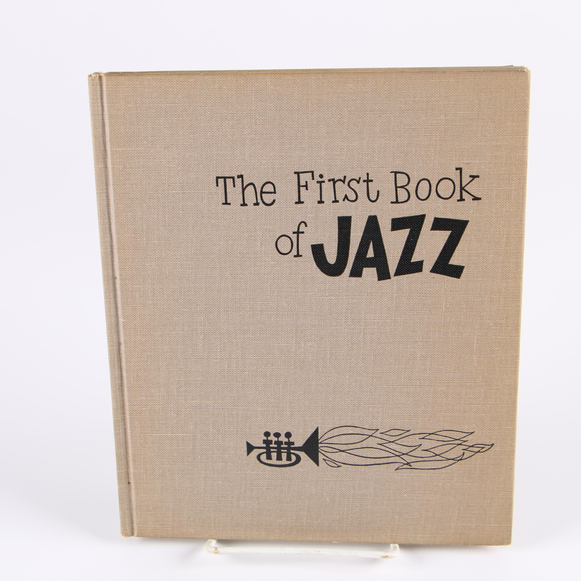 "Ex-Libris Jack Bradley 1955 ""The First Book of Jazz"" by Langston Hughes"