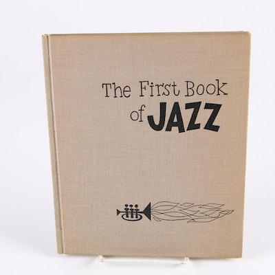 "Ex-Libris Jack Bradley 1955 ""The First Book of Jazz"" by Langston Hughes"