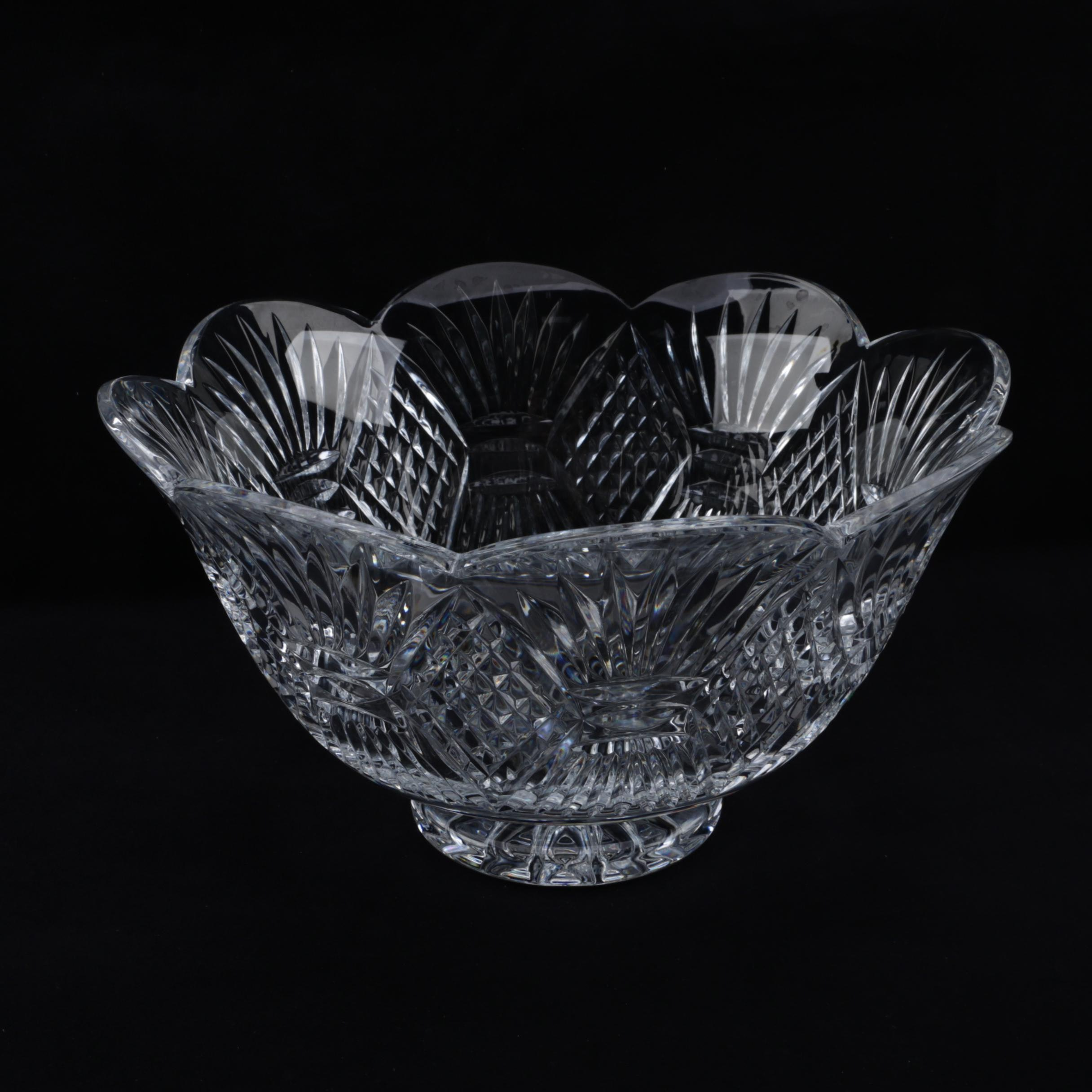"""Waterford Crystal """"Aran Isles"""" Bowl From the Romance of Ireland Collection"""