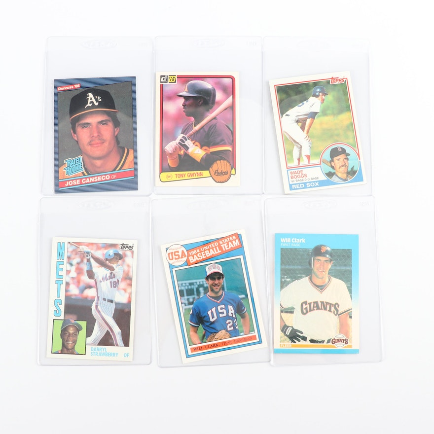 1980s Baseball Cards Including Tony Gwynn And Wade Boggs Rookie Cards