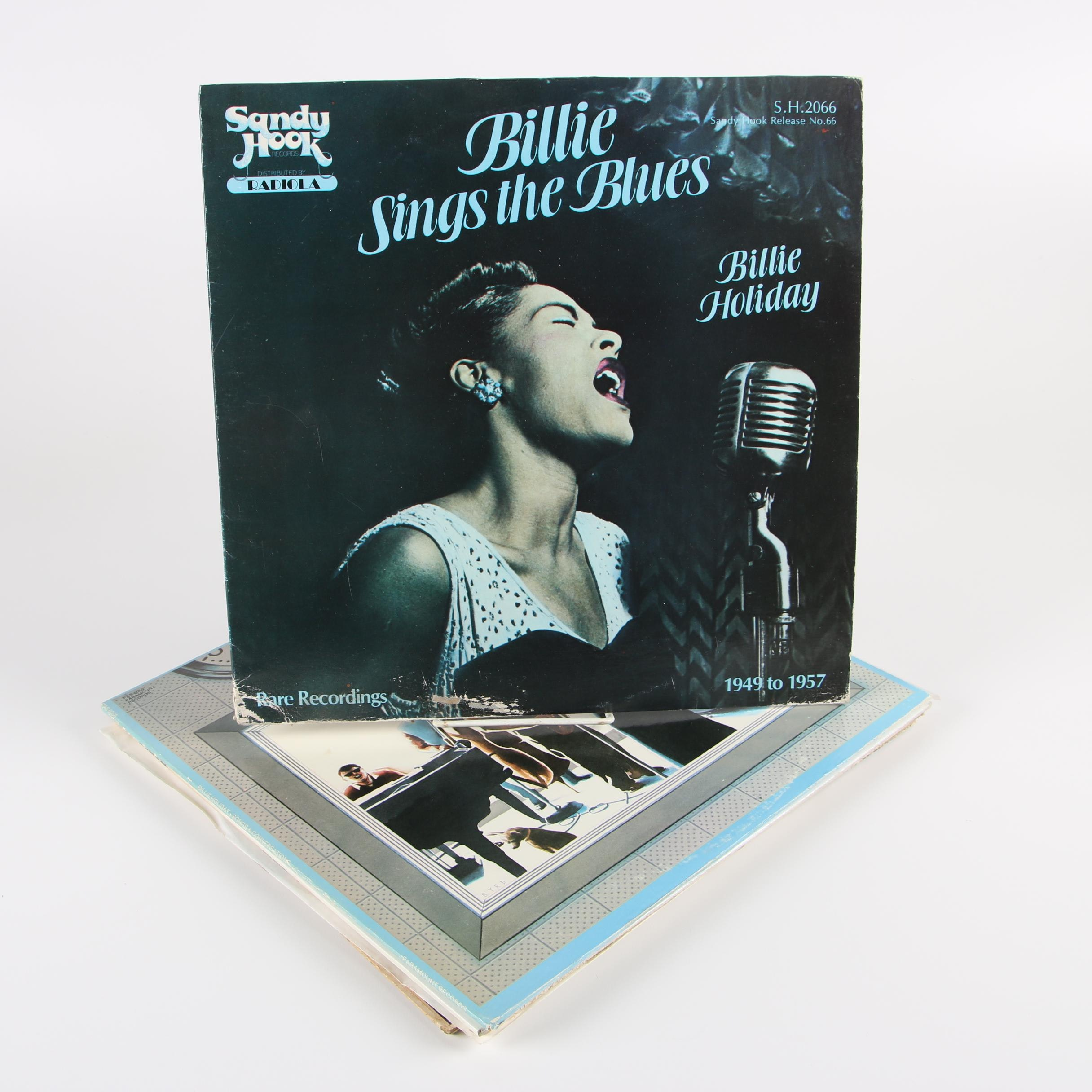 "Billie Holiday Vinyl Records including ""Billie Sings the Blues"""