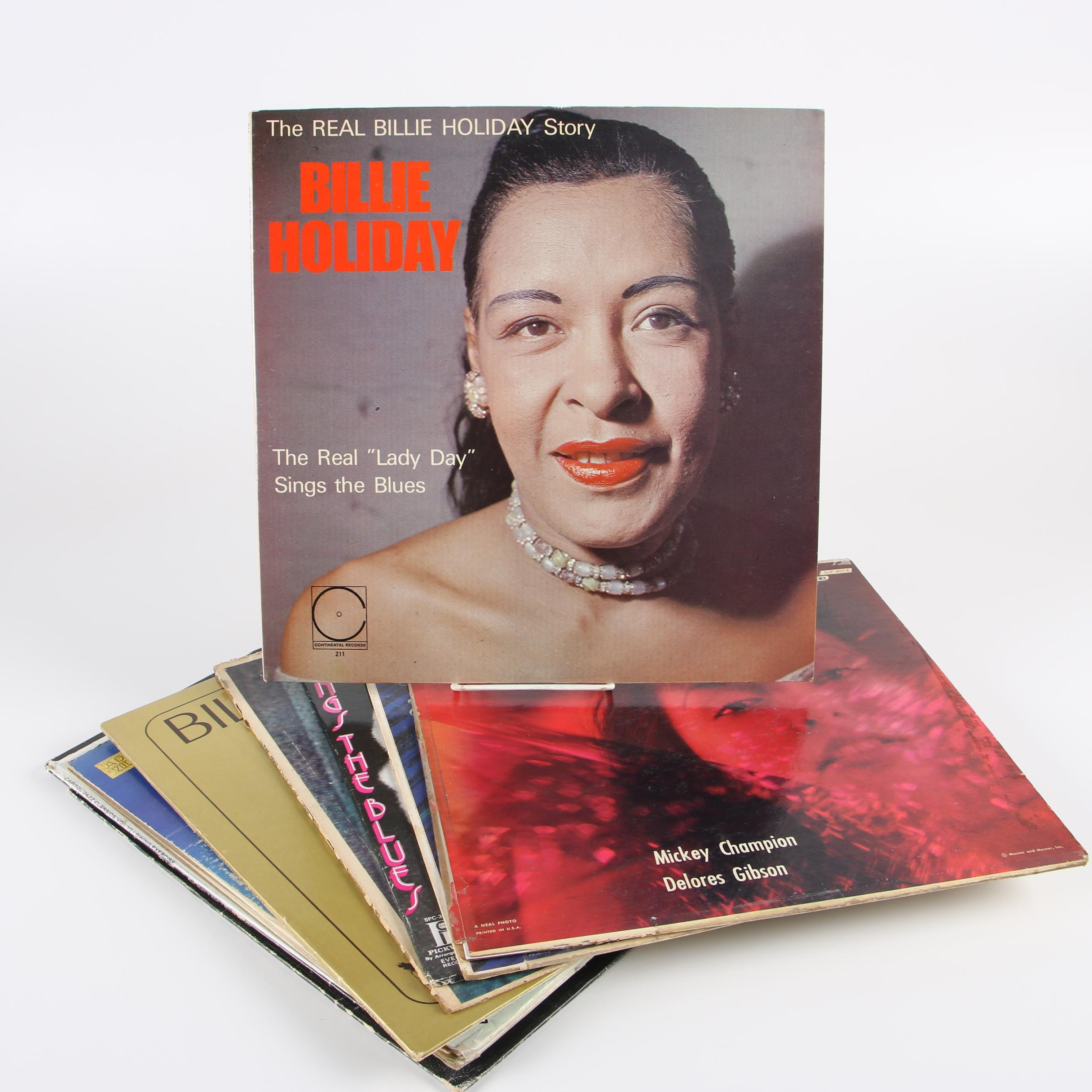 "Billie Holiday Records including ""The Real Billie Holiday Story"""