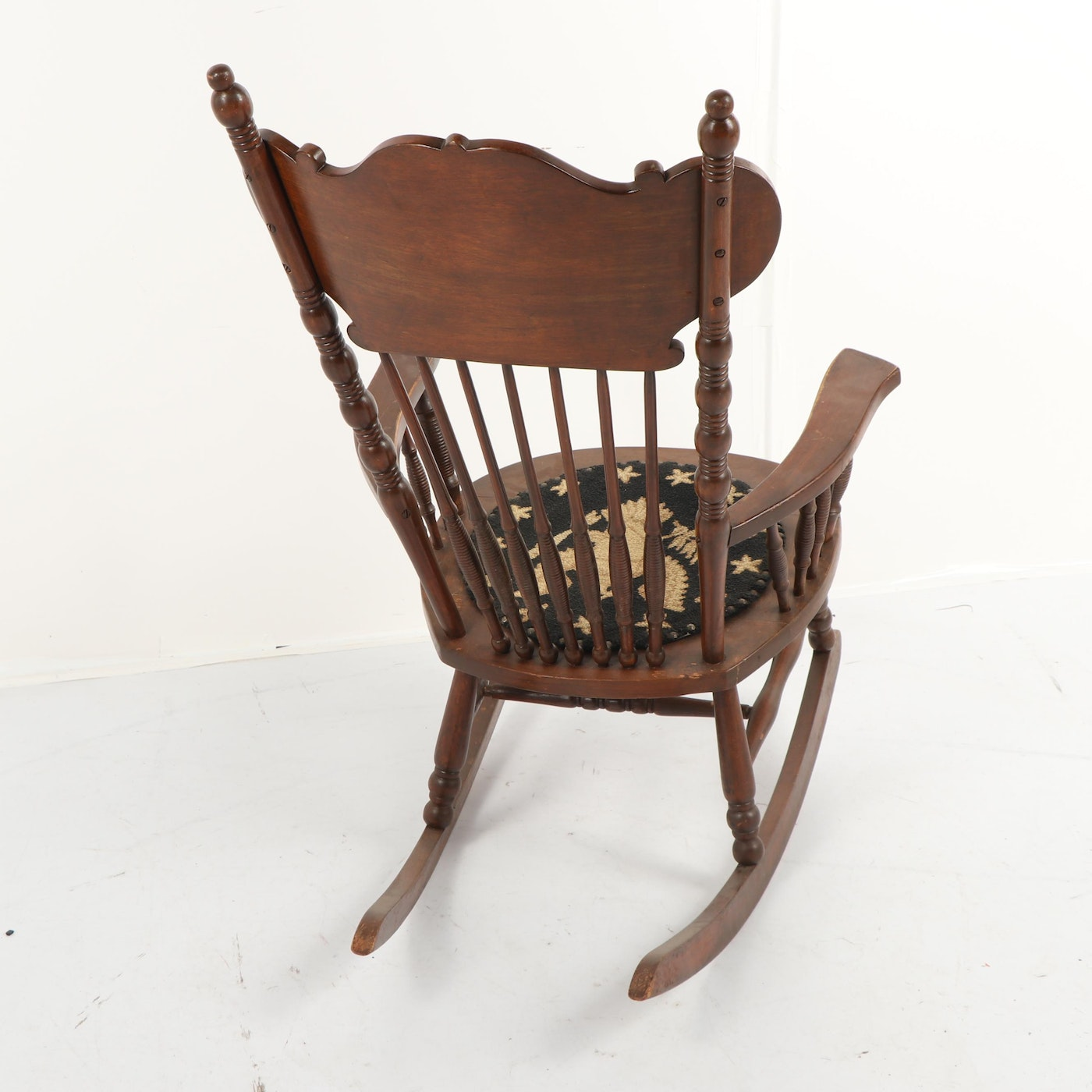 American Federal Style Eagle Seat Press Back Rocking Chair ...