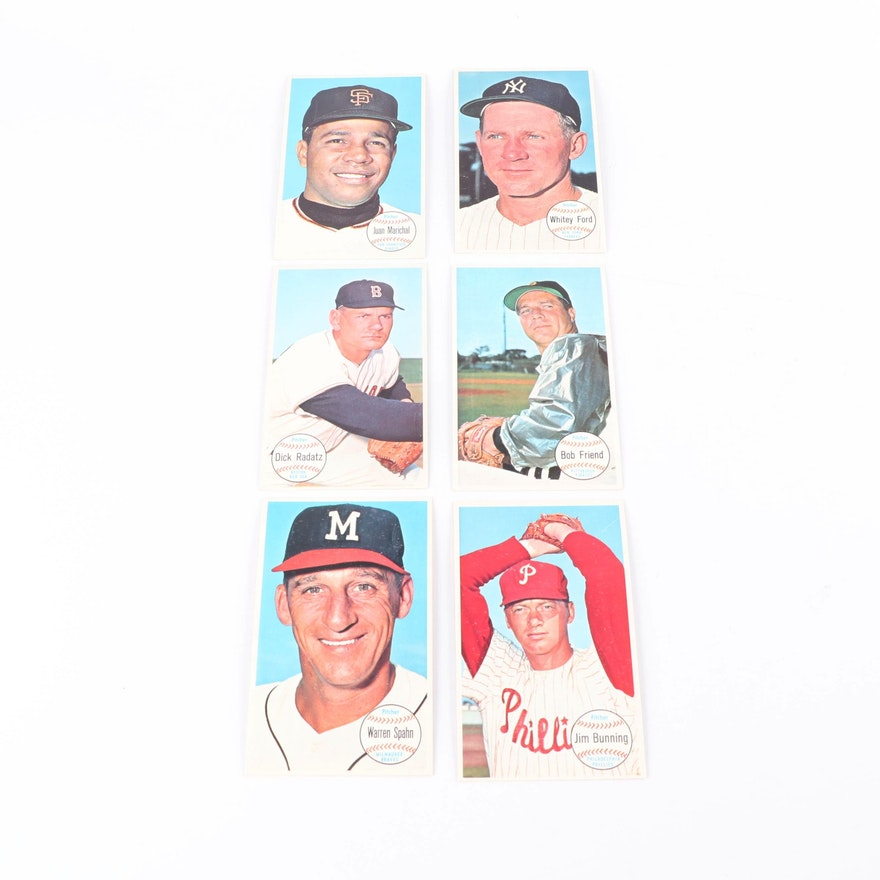 1964 Topps Giants Baseball Cards Including Bob Friend And Whitey Ford