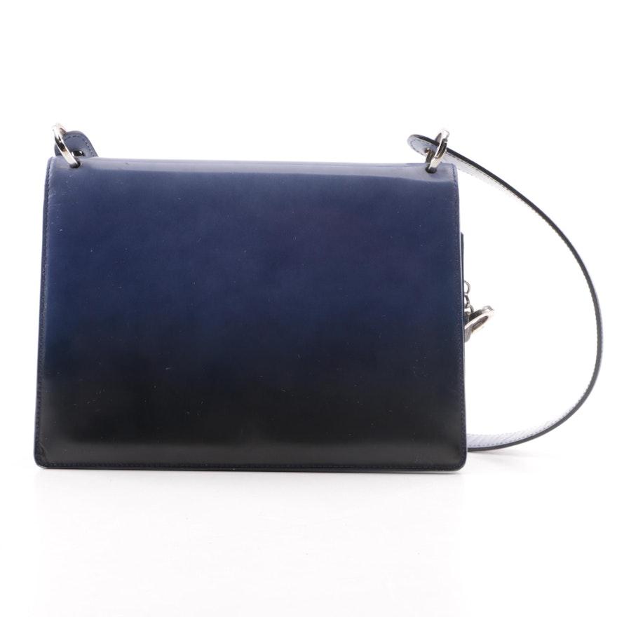 Salvatore Ferragamo Glazed Ombré Leather Handbag   EBTH d7816bd45f