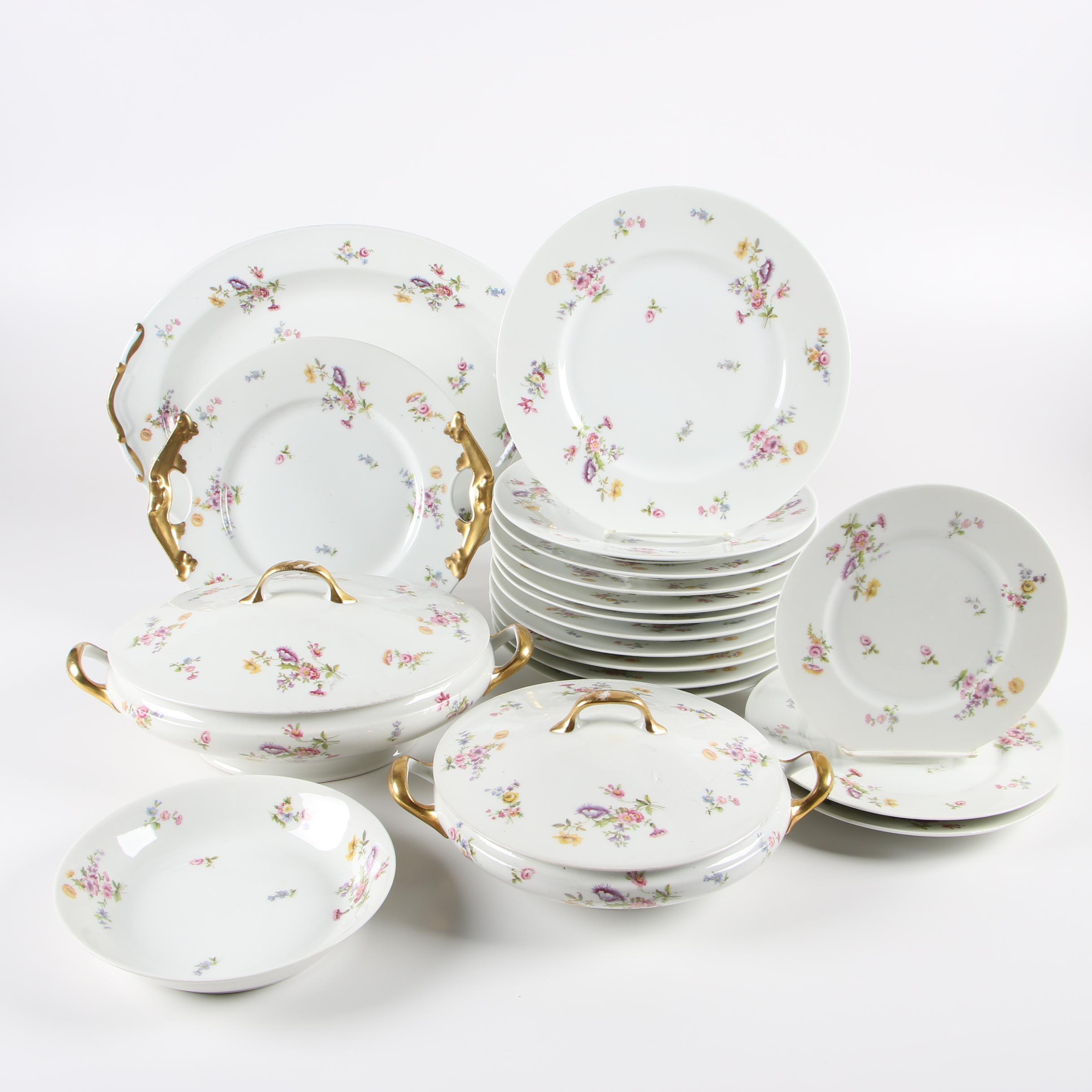 Vintage L. Bernardaud Limoges Porcelain Dinner and Serveware