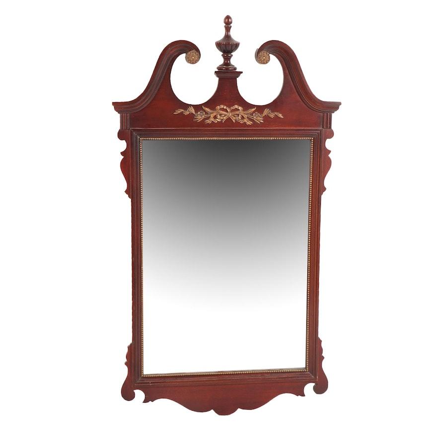 Vintage Federal Style Mahogany Wall Mirror Ebth
