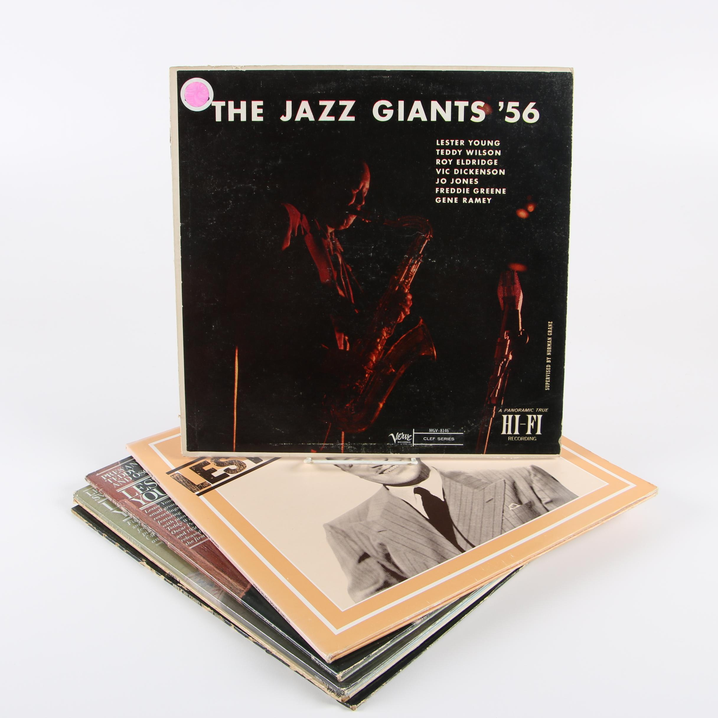 Jazz Vinyl Records including Lester Young
