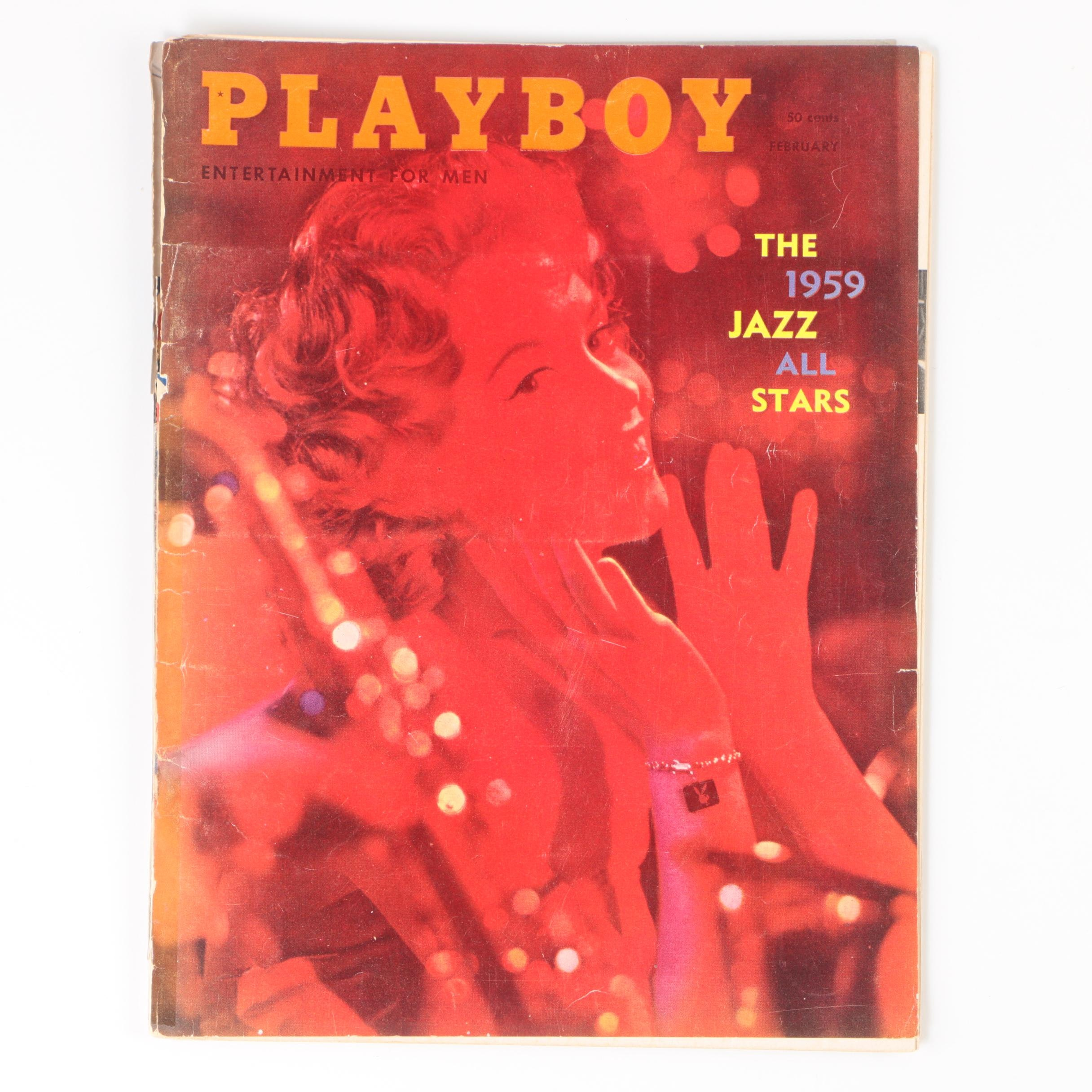 "Ex-Libris Jack Bradley 1959 ""Playboy"" with Jazz All Stars Feature"