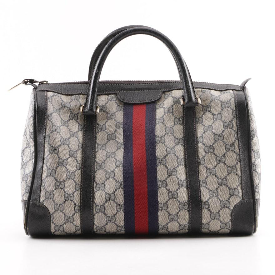 42bf7d9d226 Vintage Gucci Supreme GG Canvas Boston Bag