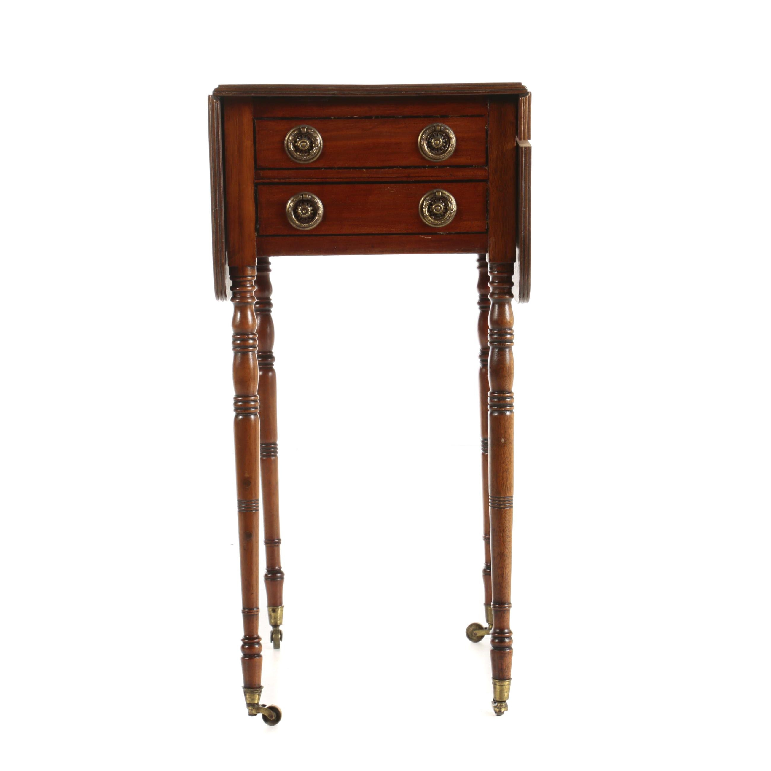 Regency Mahogany Pembroke Work Table, Early 19th Century
