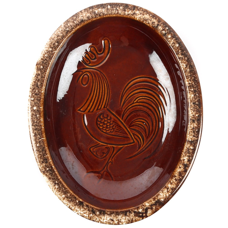Hull Oven Proof Rooster Serving Platter