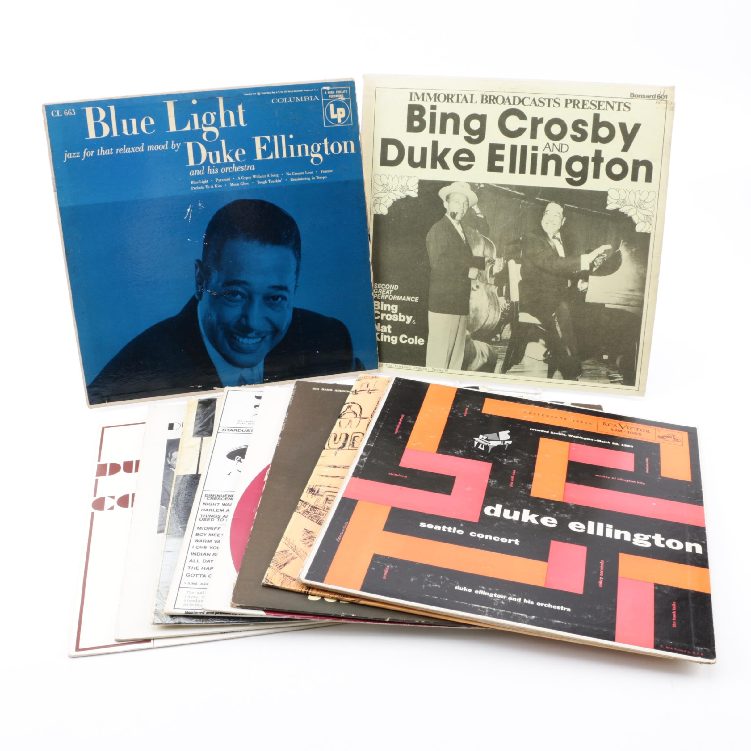 "Duke Ellington Vinyl Records including ""Seattle Concert"""