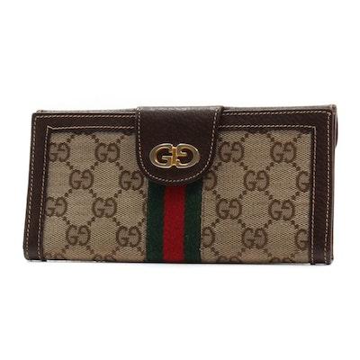 f2d532d1a97 Vintage Gucci Supreme Canvas Wallet