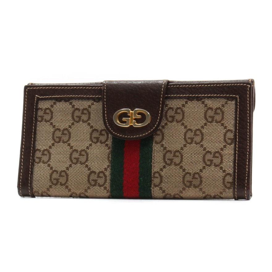 b675fc2c87c Vintage Gucci Supreme Canvas Wallet   EBTH
