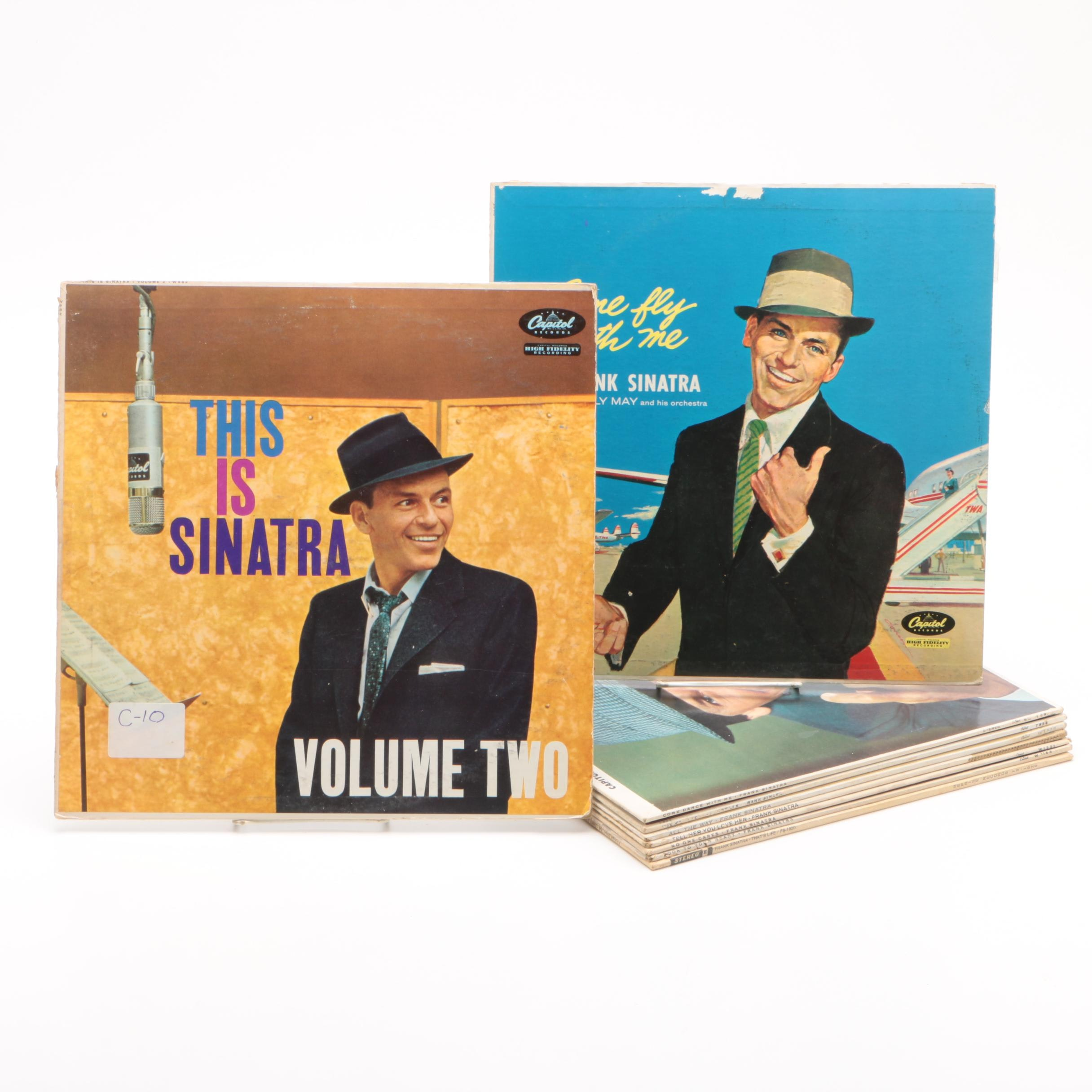 "1950s-1960s Frank Sinatra Records including ""This is Sinatra"""