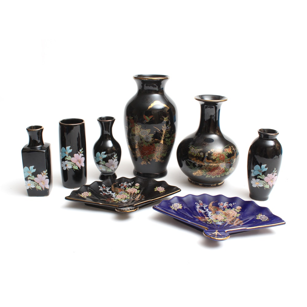 Japanese Ceramic Vases and Plates