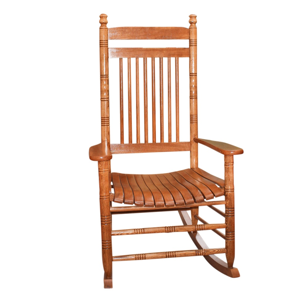 Cracker Barrel Slat Seat Rocking Chair