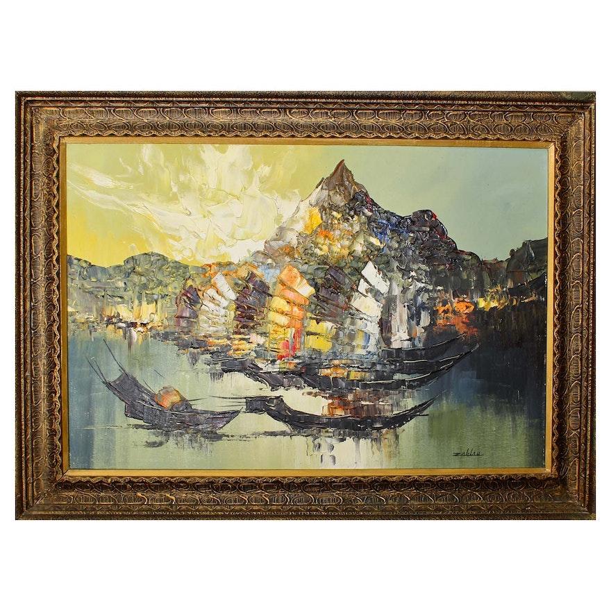 Enrico Zablan Oil Painting