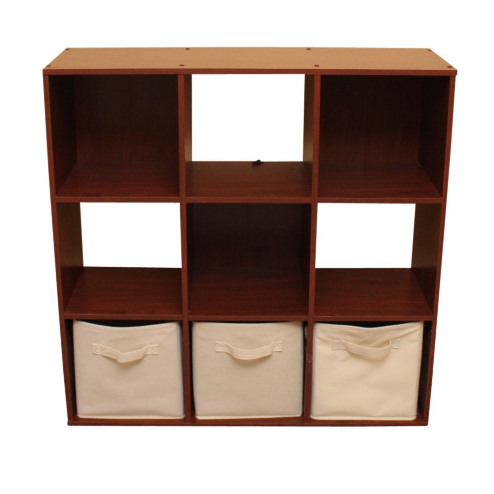 Contemporary Wooden Cube Organizer