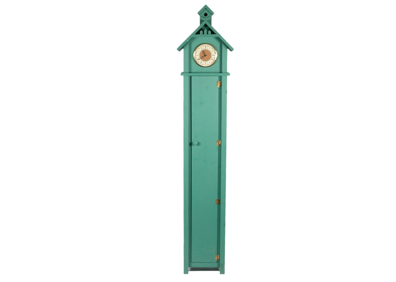 Quartz Clock in Painted Wood Cabinet