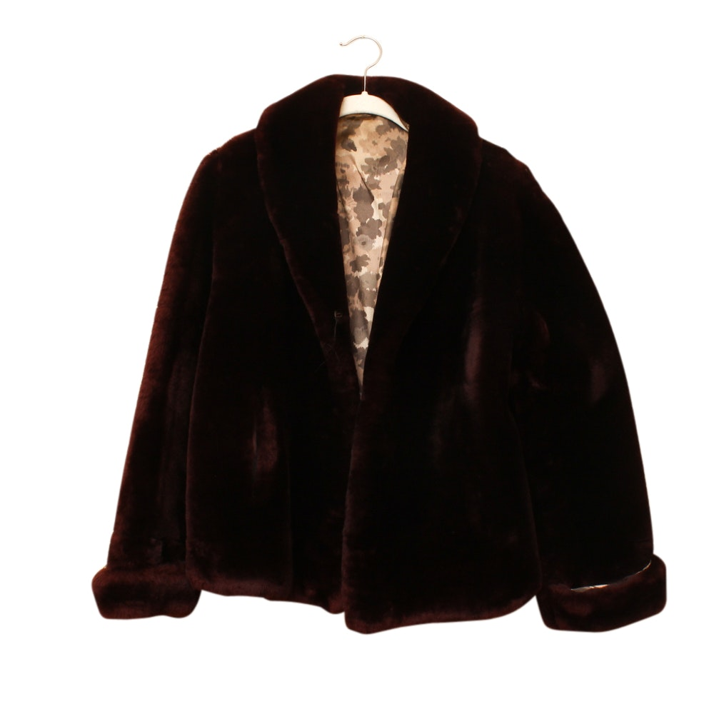 Women's Sears Dyed Mouton Fur Coat