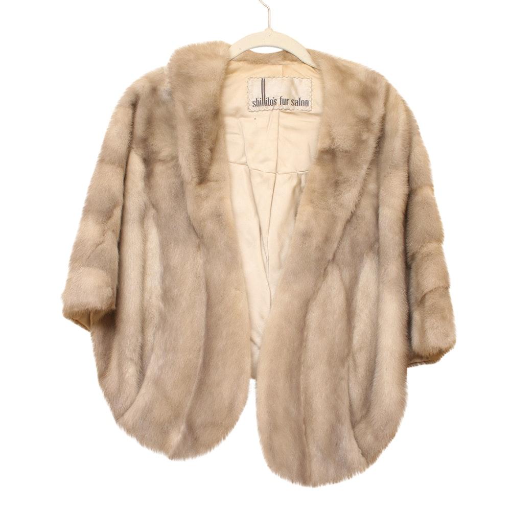 Women's Vintage Shillito's Silver Mink Fur Stole